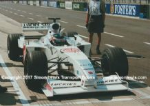 BAR HONDA 002. Darren Manning, pitting during Silverstone Test 2000. Photo (A)